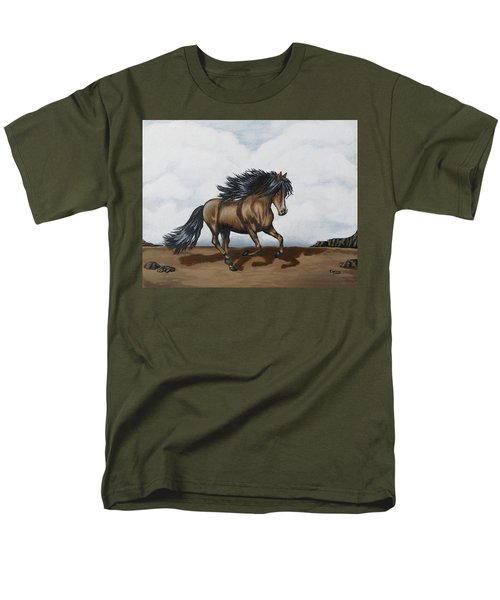 Men's T-Shirt  (Regular Fit) featuring the painting Coco by Teresa Wing