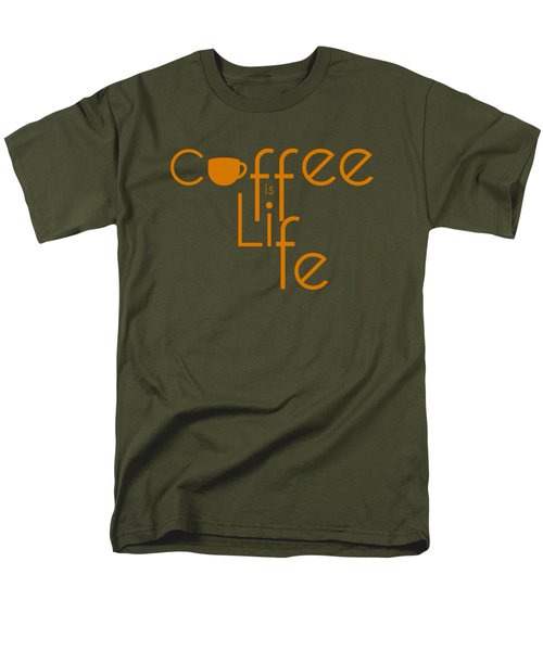 Men's T-Shirt  (Regular Fit) featuring the digital art Coffee Is Life #2 by Nola Lee Kelsey