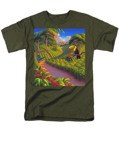 Coffee Plantation Men's T-Shirt  (Regular Fit) by Robin Moline