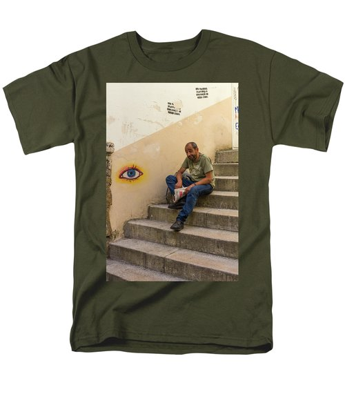 Men's T-Shirt  (Regular Fit) featuring the photograph Coimbra  Local  by Patricia Schaefer