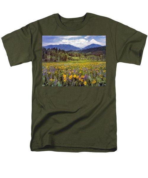 Color Of Spring Men's T-Shirt  (Regular Fit) by Leland D Howard