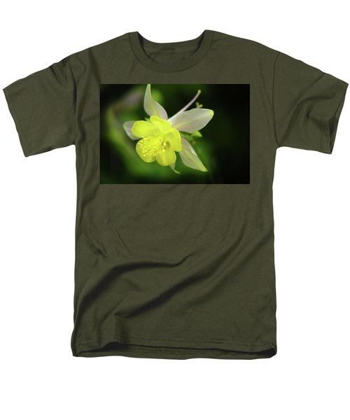 Men's T-Shirt  (Regular Fit) featuring the photograph Colorado Columbine by Marie Leslie