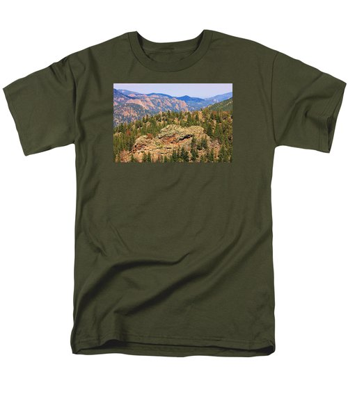 Colorado Rocky Mountains Men's T-Shirt  (Regular Fit) by Sheila Brown