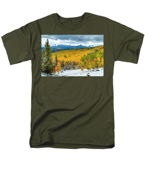Colorado Valley Of Autumn Color Men's T-Shirt  (Regular Fit) by Teri Virbickis
