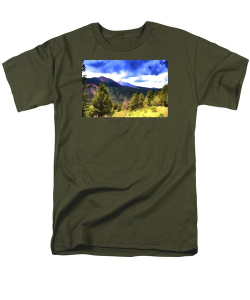 Colorado Watercolor Men's T-Shirt  (Regular Fit) by James Bethanis