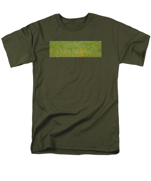 Colorful Field Men's T-Shirt  (Regular Fit) by Wanda Krack