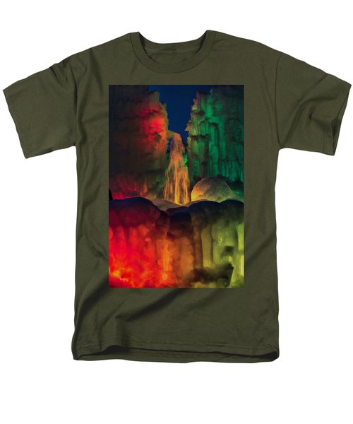 Colorful Ice  Men's T-Shirt  (Regular Fit) by Betty Pauwels