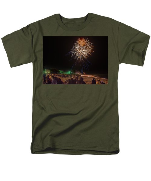 Men's T-Shirt  (Regular Fit) featuring the photograph Colorful Kewaunee, Fourth by Bill Pevlor