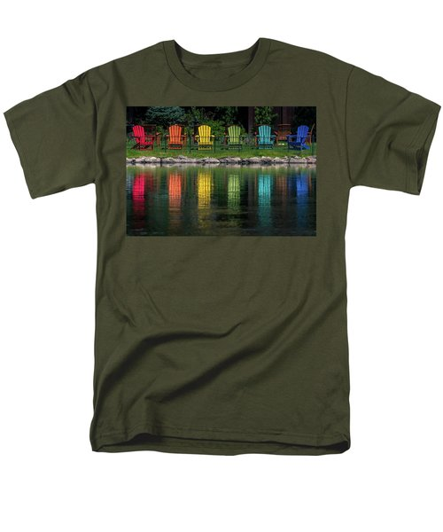 Colorful  Men's T-Shirt  (Regular Fit) by Martina Thompson