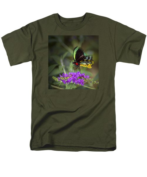 Men's T-Shirt  (Regular Fit) featuring the photograph Colorful Northern Butterfly by Penny Lisowski