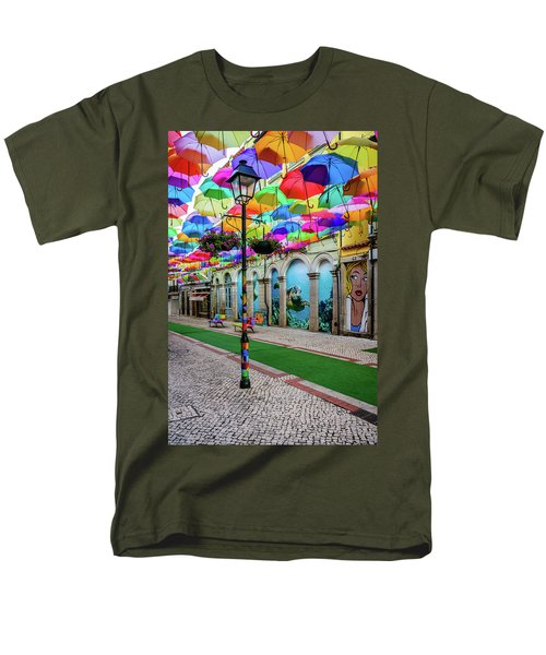 Colorful Street Men's T-Shirt  (Regular Fit) by Marco Oliveira