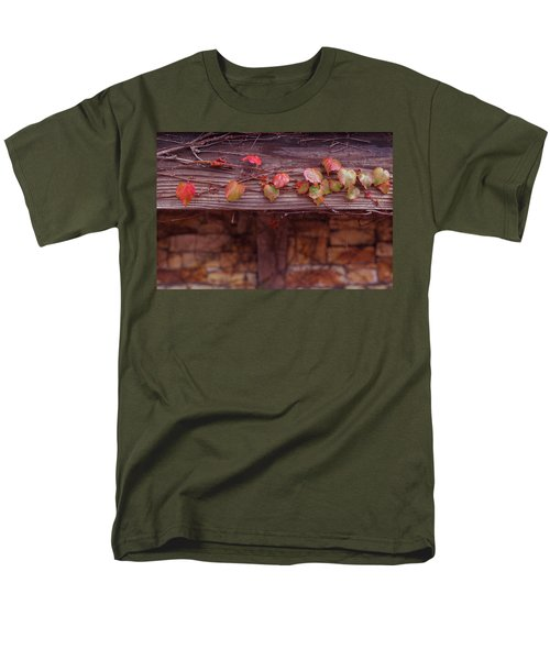 Colorful Tree Leaves Changing Color For Auyumn,fall Season In Oc Men's T-Shirt  (Regular Fit) by Jingjits Photography