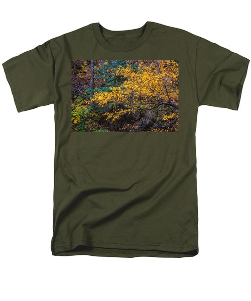 Colorful Trees Along The Creek Bank Men's T-Shirt  (Regular Fit) by John Brink