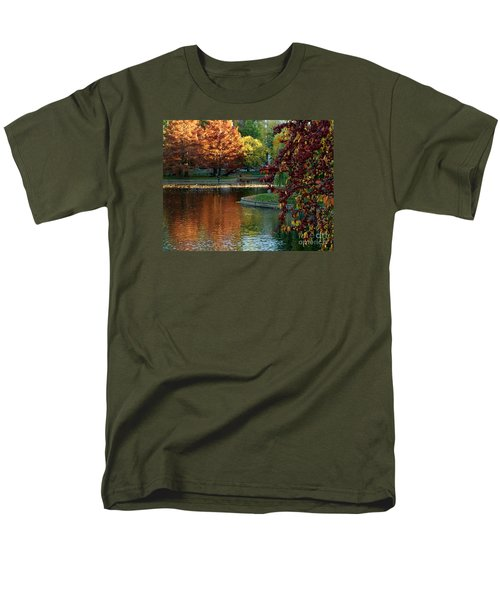Men's T-Shirt  (Regular Fit) featuring the photograph Colorful Trees Boston by Haleh Mahbod
