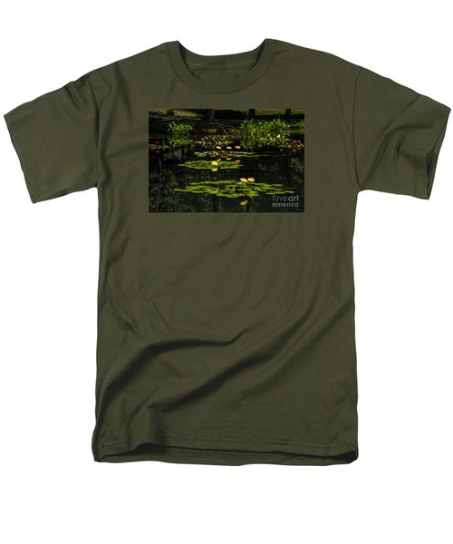 Colorful Waterlily Pond Men's T-Shirt  (Regular Fit) by Barbara Bowen