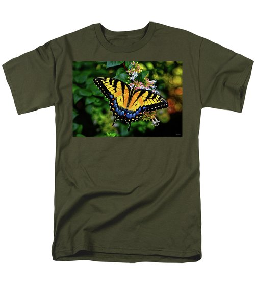 Men's T-Shirt  (Regular Fit) featuring the photograph Colors Of Nature - Swallowtail Butterfly 003 by George Bostian
