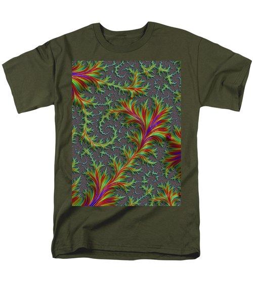 Colourful Fronds Men's T-Shirt  (Regular Fit) by Rajiv Chopra