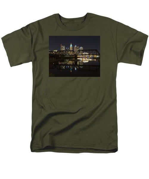 Men's T-Shirt  (Regular Fit) featuring the photograph Columbus Skyline by Alan Raasch