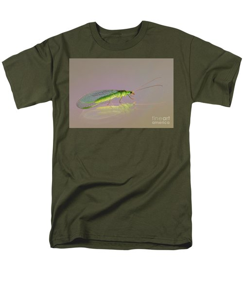 Common Green Lacewing - Chrysoperla Carnea Men's T-Shirt  (Regular Fit) by Jivko Nakev