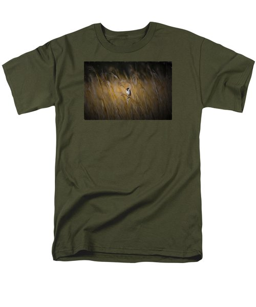 Common Reed Bunting Nov Men's T-Shirt  (Regular Fit) by Leif Sohlman