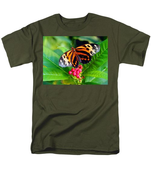 Common Tiger Glassywing Butterfly Men's T-Shirt  (Regular Fit) by Amy McDaniel