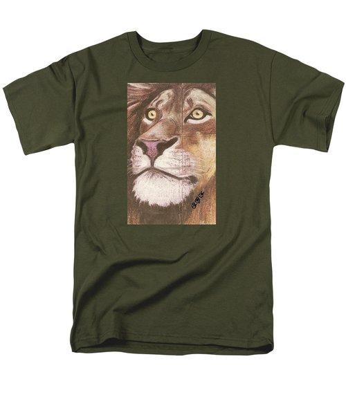 Concrete Lion Men's T-Shirt  (Regular Fit) by George I Perez