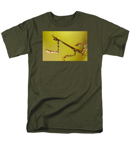Men's T-Shirt  (Regular Fit) featuring the photograph Cone Head Mantis by Richard Patmore