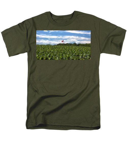 Confederate Flag In Tobacco Field Men's T-Shirt  (Regular Fit) by Benanne Stiens