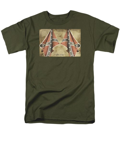 Men's T-Shirt  (Regular Fit) featuring the digital art Confederate Flags by Melissa Messick