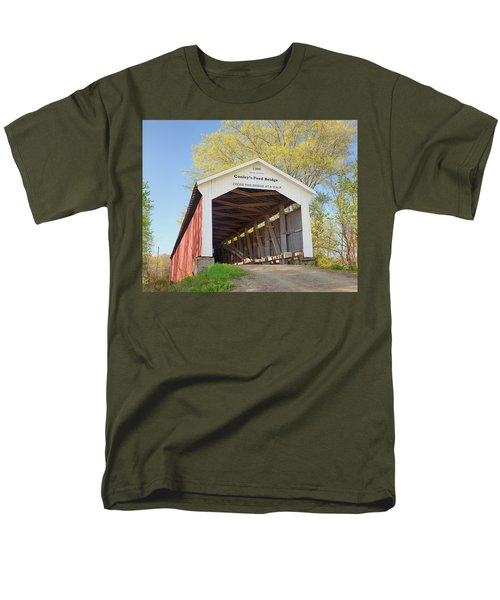 Men's T-Shirt  (Regular Fit) featuring the photograph Conley's Ford Covered Bridge by Harold Rau