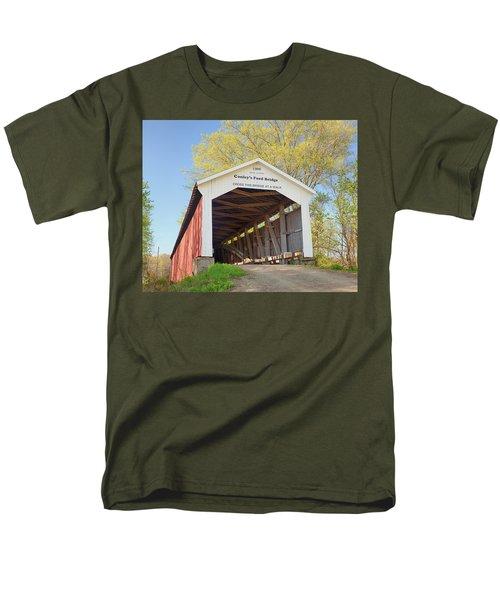 Conley's Ford Covered Bridge Men's T-Shirt  (Regular Fit) by Harold Rau