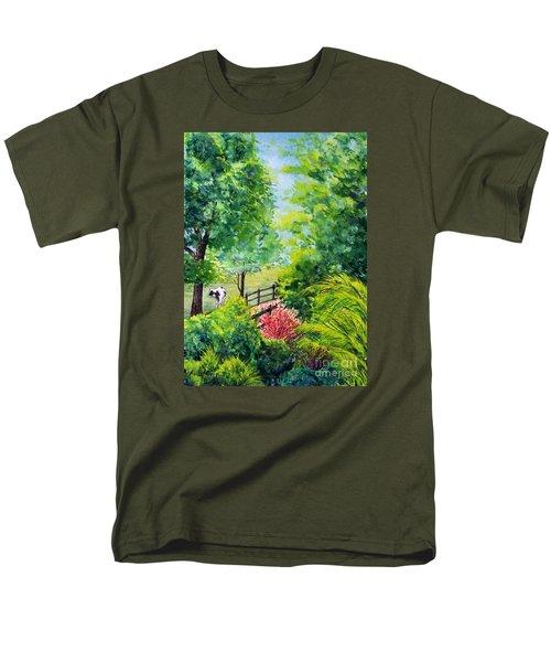 Contentment Men's T-Shirt  (Regular Fit) by Nancy Cupp