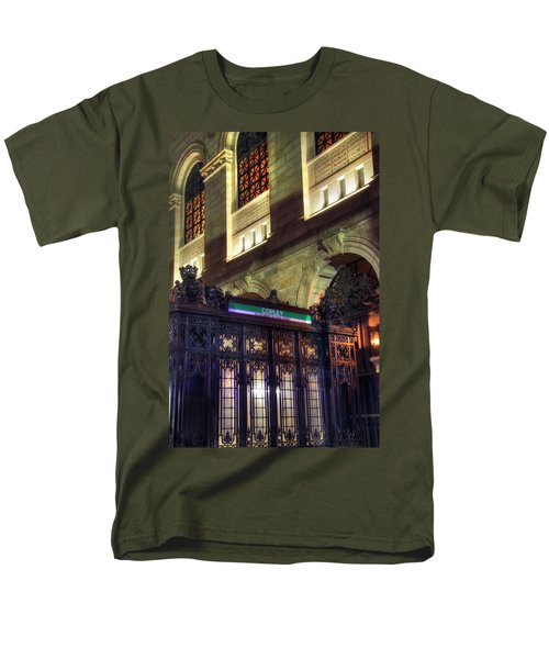 Men's T-Shirt  (Regular Fit) featuring the photograph Copley Square T Stop - Boston by Joann Vitali