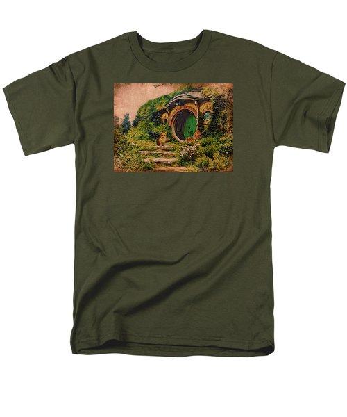 Corgi At Hobbiton Men's T-Shirt  (Regular Fit) by Kathy Kelly