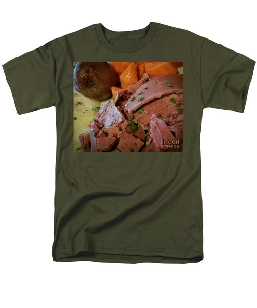 Corn Beef Men's T-Shirt  (Regular Fit) by Raymond Earley