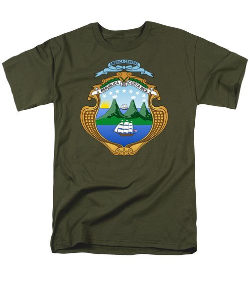 Men's T-Shirt  (Regular Fit) featuring the drawing Costa Rica Coat Of Arms by Movie Poster Prints