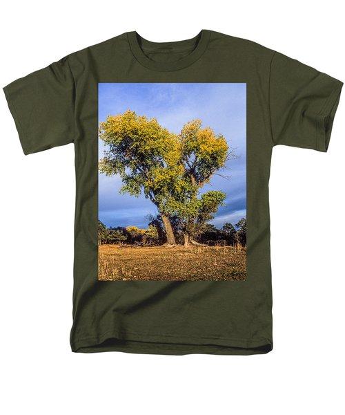 Cottonwood #4 Fall Ranch Colorado Men's T-Shirt  (Regular Fit) by John Brink