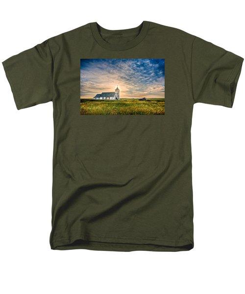 Country Church Sunrise Men's T-Shirt  (Regular Fit)