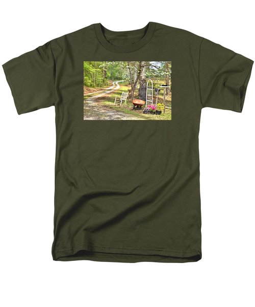 Men's T-Shirt  (Regular Fit) featuring the photograph Country Driveway In Springtime by Gordon Elwell