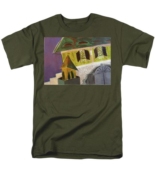 Men's T-Shirt  (Regular Fit) featuring the pastel Country House by Manuela Constantin