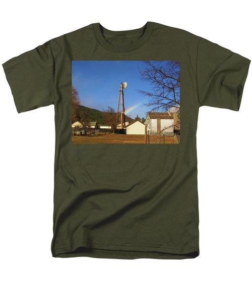 Country Rainbow Men's T-Shirt  (Regular Fit) by Mary Ellen Frazee
