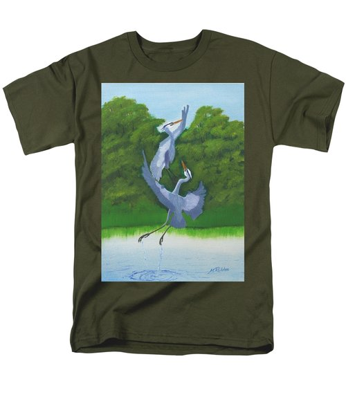 Courtship Dance Men's T-Shirt  (Regular Fit) by Mike Robles