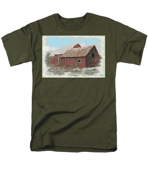 Men's T-Shirt  (Regular Fit) featuring the digital art Coventry Barn by John Selmer Sr