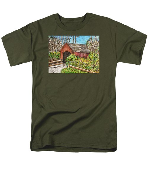 Covered Bridge Men's T-Shirt  (Regular Fit) by Reb Frost