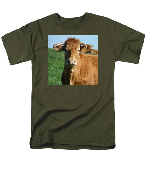 Cow Portrait Men's T-Shirt  (Regular Fit) by Jean Bernard Roussilhe