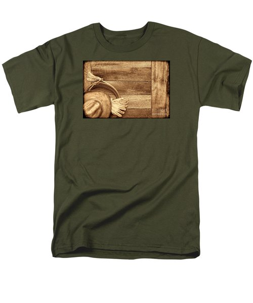 Cowboy Gear On The Floor Men's T-Shirt  (Regular Fit) by American West Legend By Olivier Le Queinec