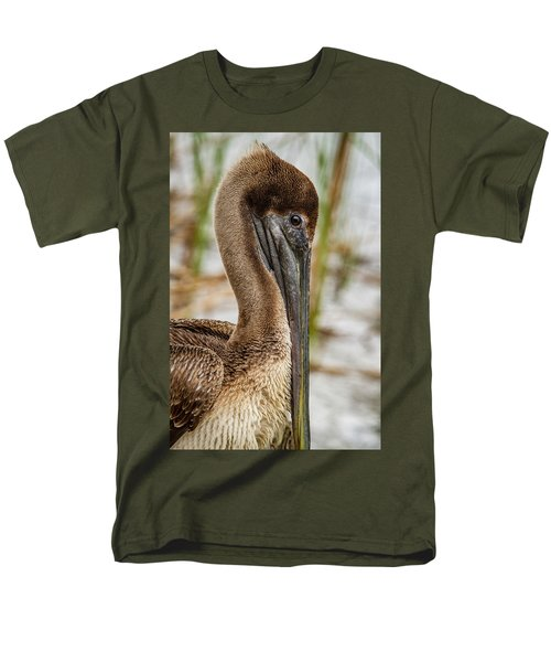 Men's T-Shirt  (Regular Fit) featuring the photograph Coy Pelican by Jean Noren