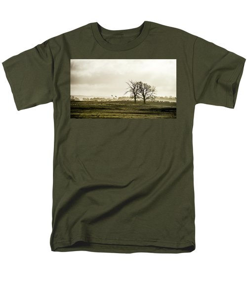Men's T-Shirt  (Regular Fit) featuring the photograph Crane Hill by Torbjorn Swenelius