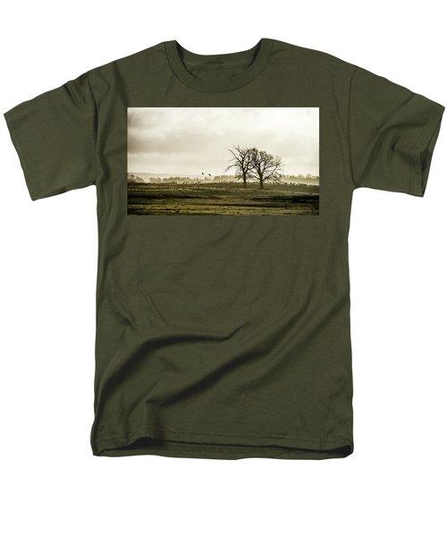 Crane Hill Men's T-Shirt  (Regular Fit) by Torbjorn Swenelius
