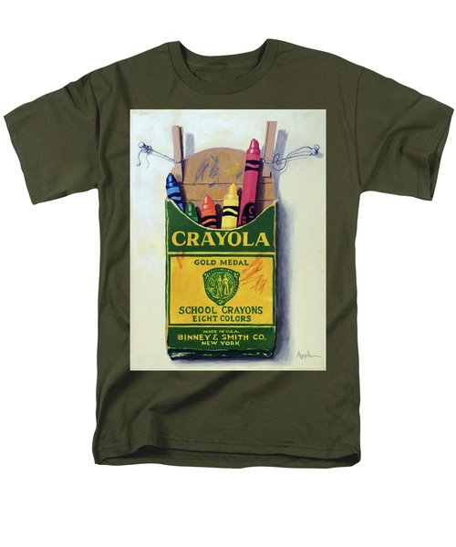Men's T-Shirt  (Regular Fit) featuring the painting Crayola Crayons Painting by Linda Apple